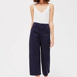 LACAUSA Navy Blue Stella Crop Trouser Pants US 8